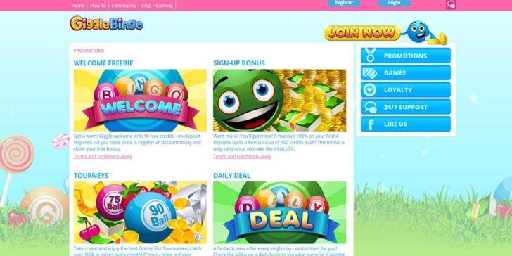 Giggle Bingo Casino Bonuses