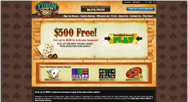 Yukon Gold Casino Bonus Free Spins July 2020