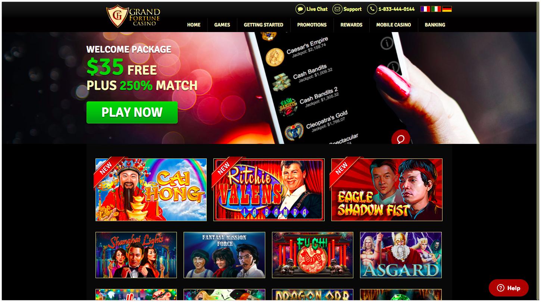 Grand fortune casino free spins 2019