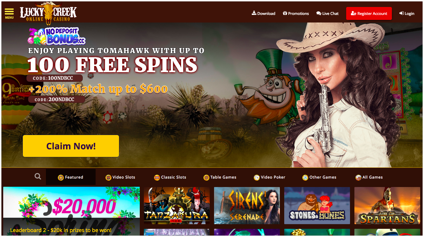 Lucky Creek Casino Bonus Free Spins June 2020