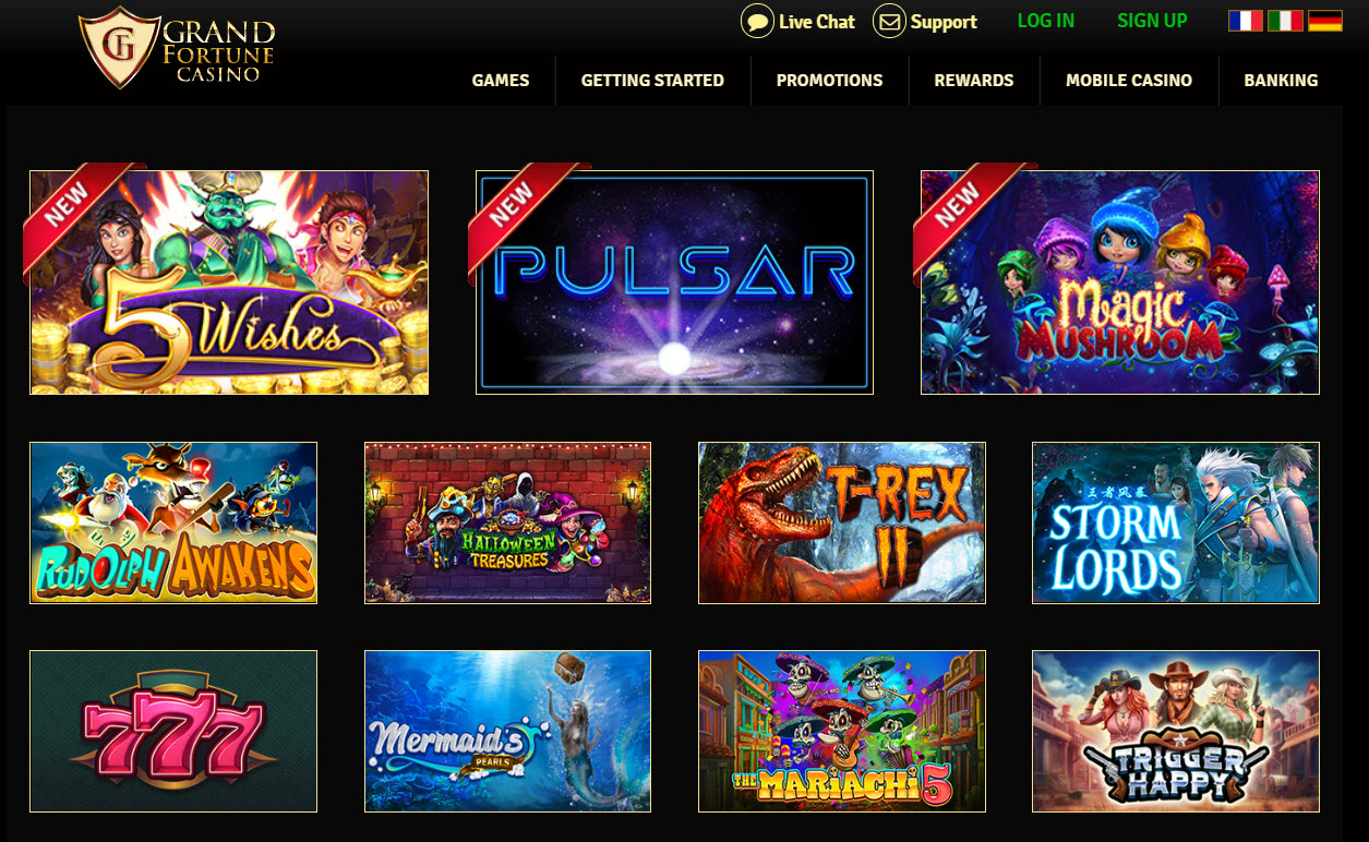 Grand Fortune Casino Games