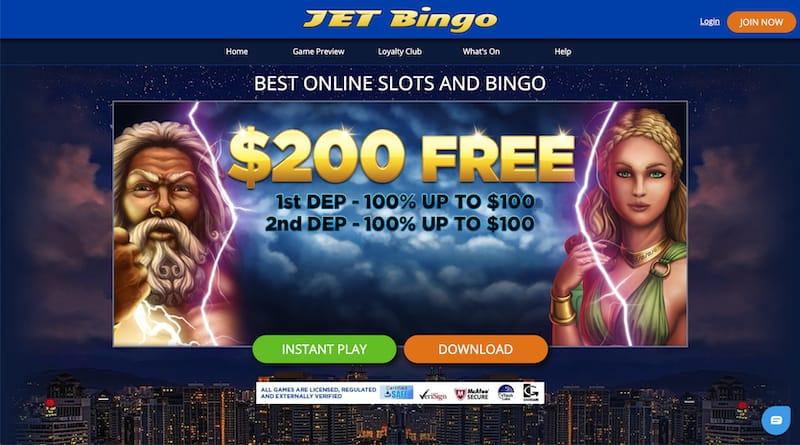 Jet Bingo Casino Bonus