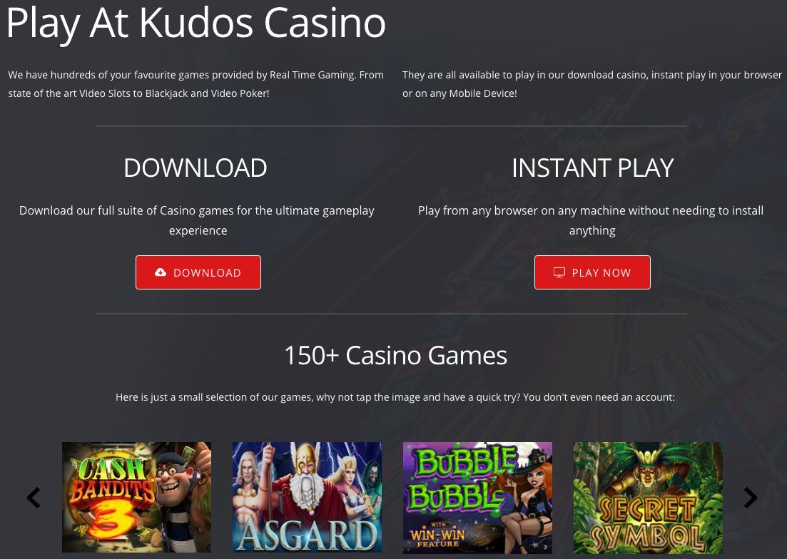 Kudos Casino Games