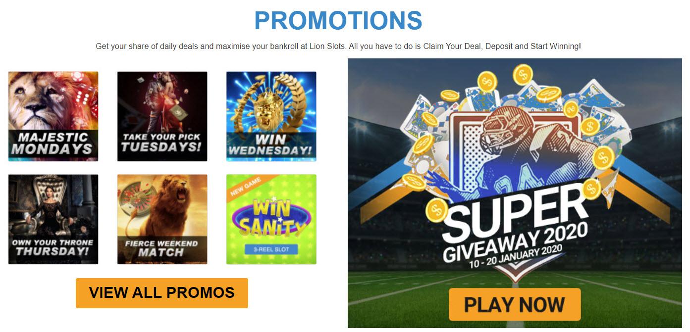 Lions Casino Promotions