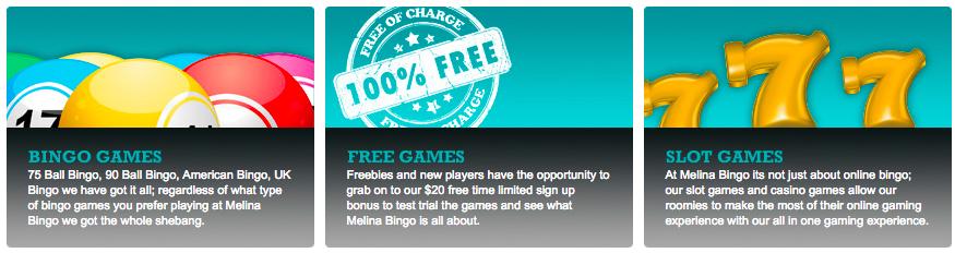 Melina Bingo Casino Games