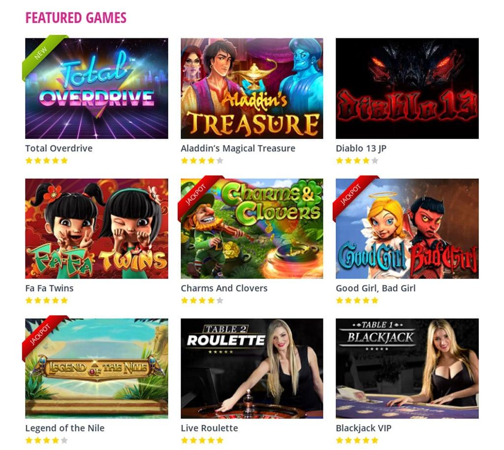 Vics Bingo Casino Games