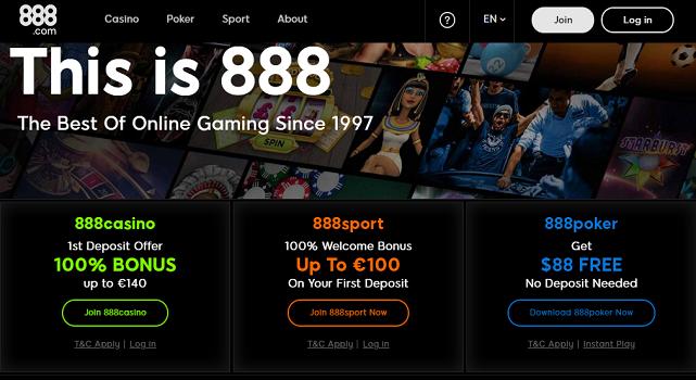 888 Casino - allcasinoscanada