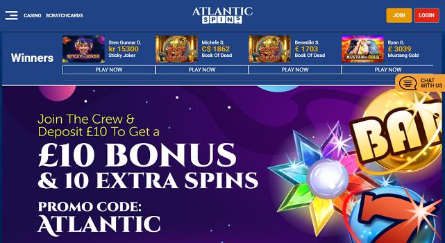 Atlantic Spins Casino - allcasinoscanada