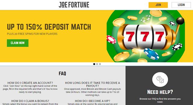 Joe Fortune Casino - allcasinoscanada
